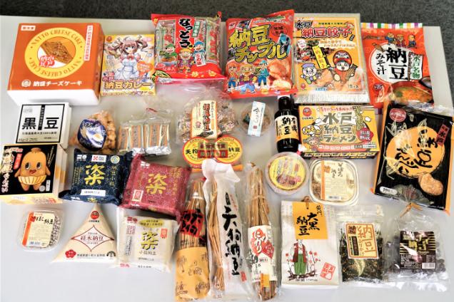 お土産の納豆と納豆食品