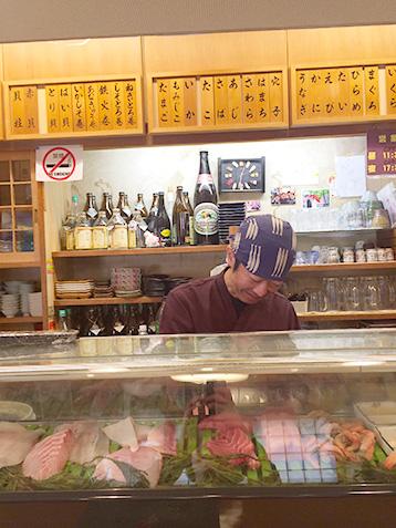 金沢の香りん寿司店内