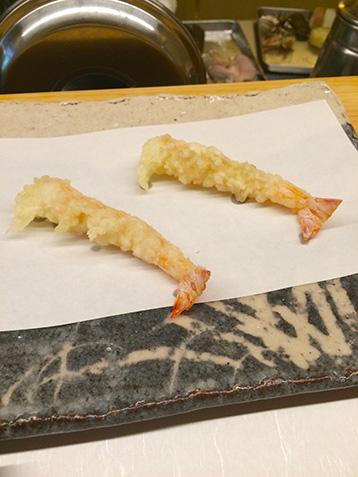 才巻海老の天ぷら