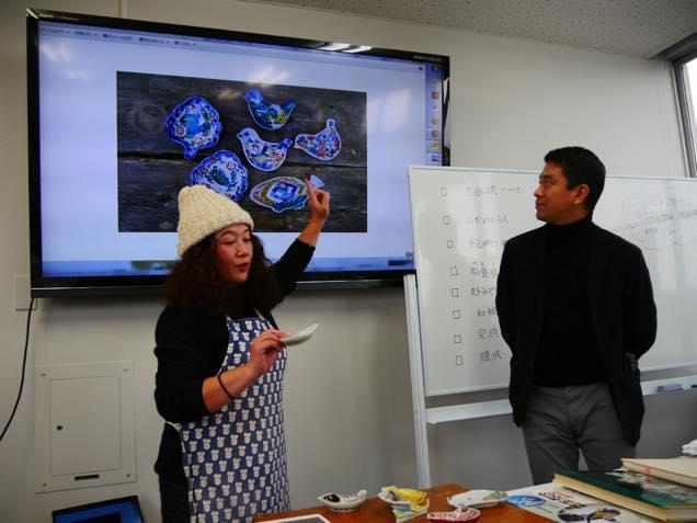 九谷焼作家の田辺京子さんと「ノエチカ」ディレクターの高山健太郎さん
