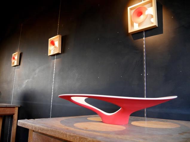 金沢・入江町にある工房「陶庵」に展示されている工芸作品
