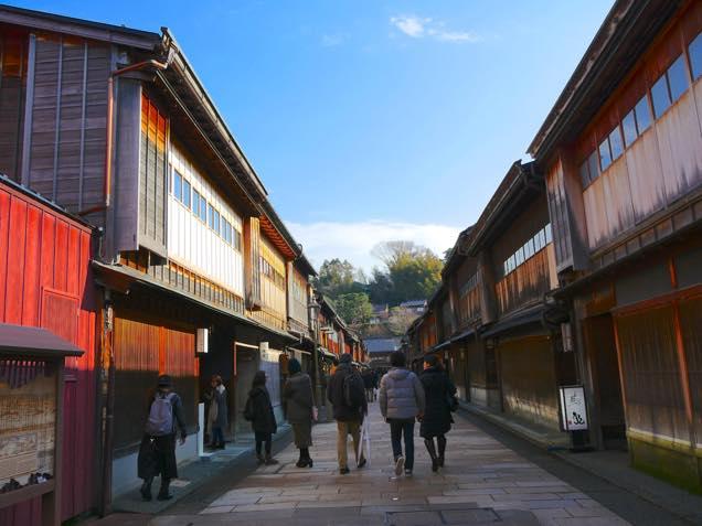 金沢「ひがし茶屋街」の街並