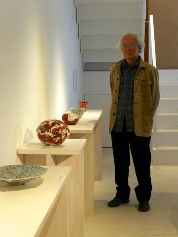 九谷焼作家の赤池健陶さんとその作品の数々