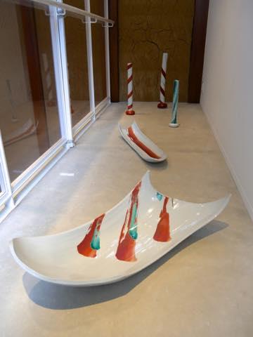 九谷焼作家の赤池健陶さんによる舟型皿