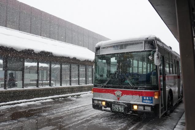 長岡駅前のバス乗り場