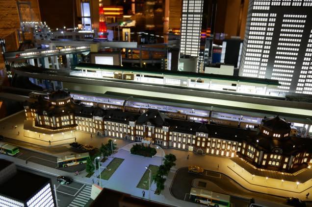 ホテルメトロポリタン丸の内の鉄道模型