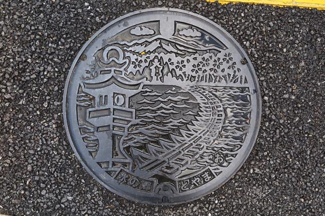 神通川左岸流域の下水道関連蓋
