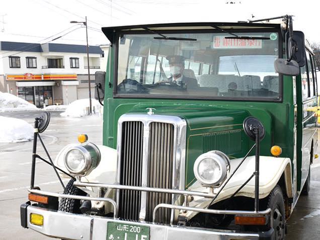 銀山温泉行きバス