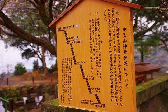 伊豆山神社参道看板