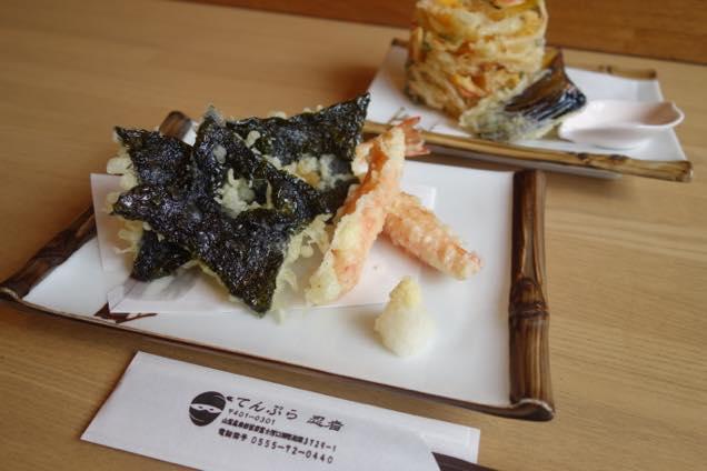 海苔の天ぷらが手裏剣の形だった