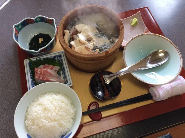 天然真鯛の石焼き定食