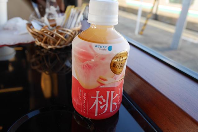 福島県産あかつきを使用した桃のジュース