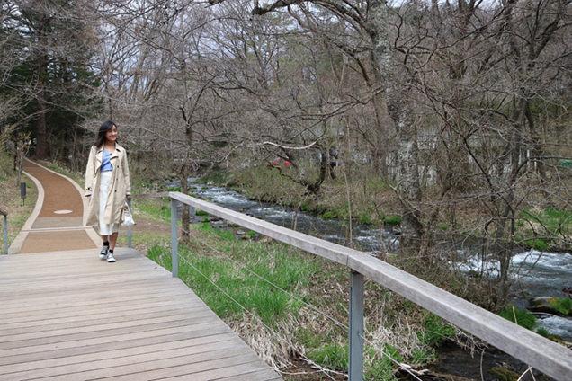 湯川沿いを散歩