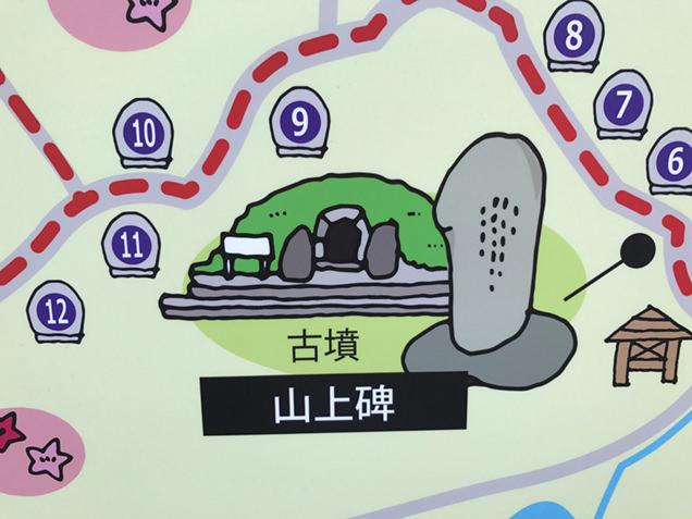 山上古墳 案内図