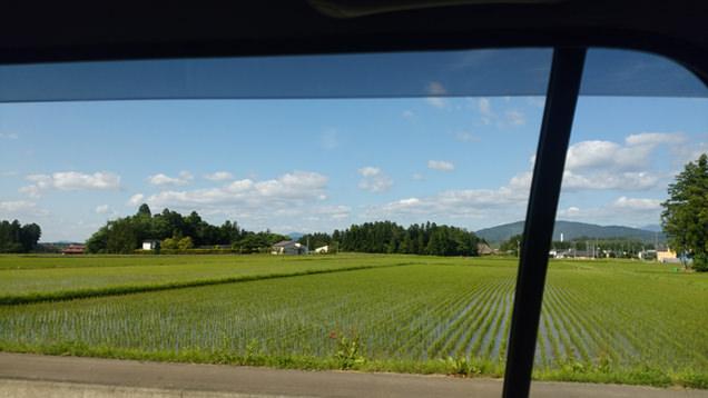 タクシーの車窓から見える風景