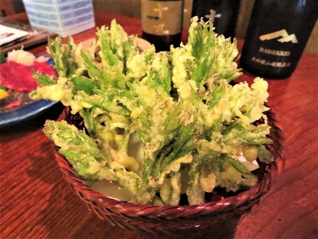 山ウドの芽の天ぷら