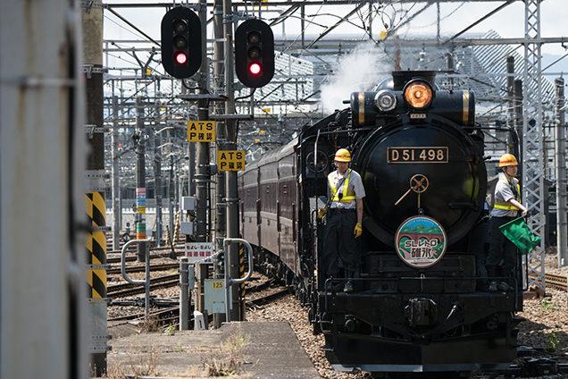 JR高崎駅にて入線してくる「SLレトロ碓氷」