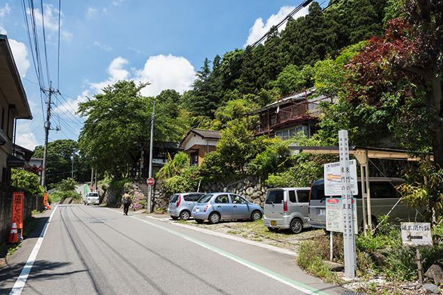 碓氷関所跡と旧中山道
