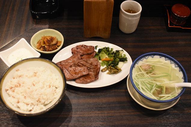 「牛タン焼専門店 司」 牛タン定食