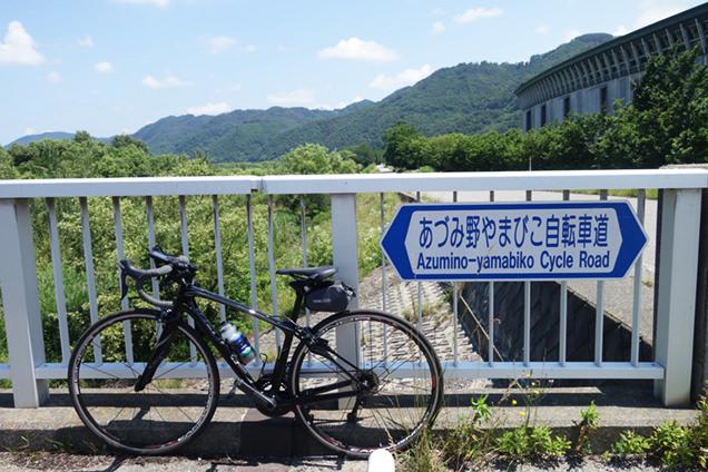 あづみ野やまびこ自転車道看板