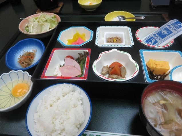 横谷温泉旅館の朝食