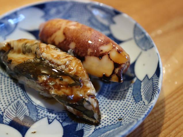 鮨 まつさか 煮イカ・穴子