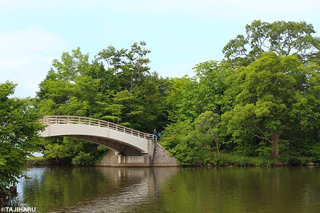 大沼湖畔 西大島橋