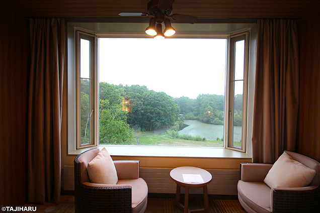 函館大沼プリンスホテル 部屋からの風景