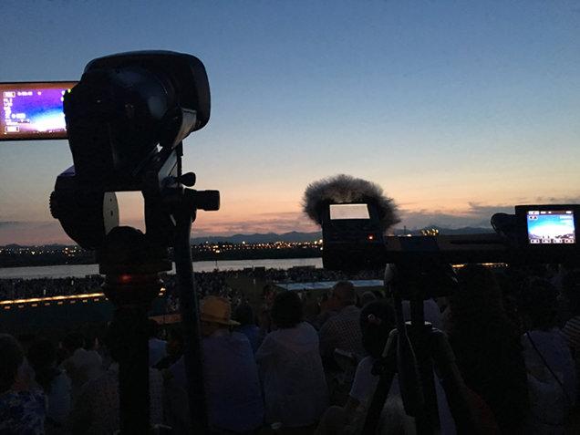 長岡花火大会 撮影機材をセット