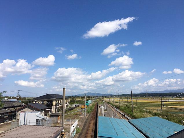 月岡駅からの景色