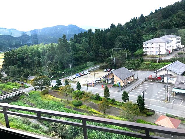 ホテル清風苑8Fの朝食会場より