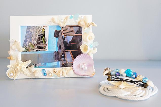 貝殻やシーグラスでフォトフレームづくりを体験のイメージ