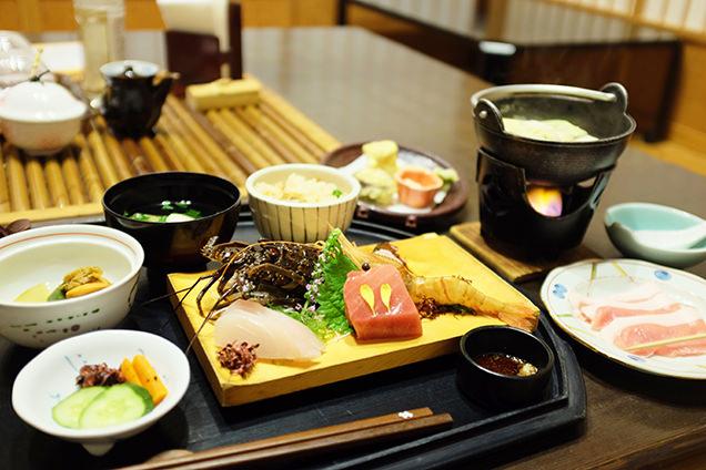 観音温泉 夕食