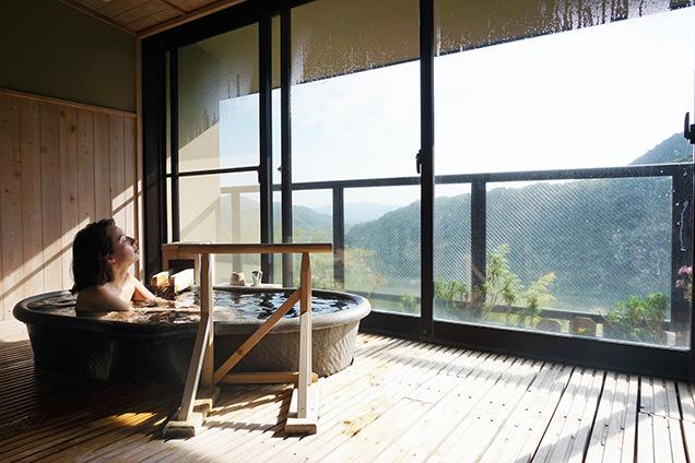 源泉かけ流しの露天風呂付きのイメージ
