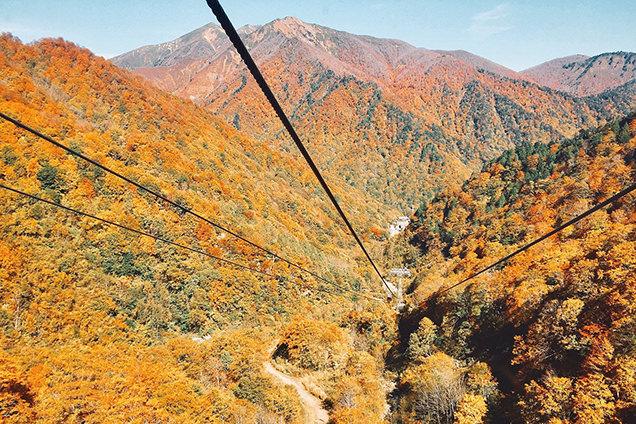 谷川岳ロープウェイからの風景