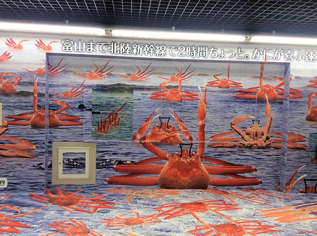 :東京駅 カニのラッピング
