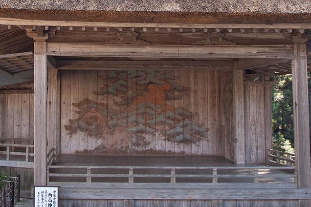 白山神社 能舞台 鏡の松