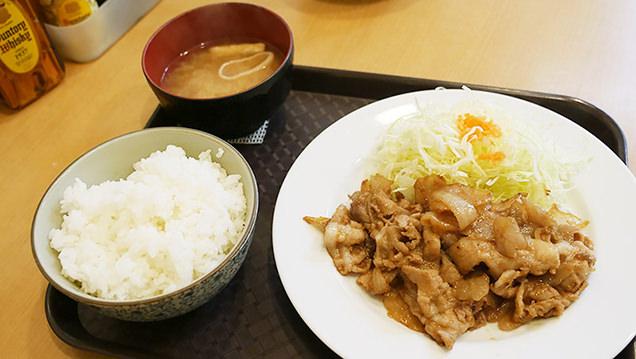 笑姜や 生姜焼き定食 特製醤油ダレ