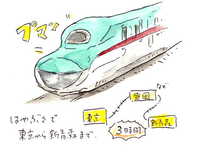 東北新幹線はやぶさ イラスト
