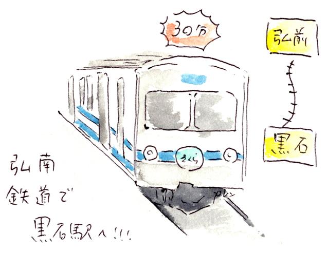 弘南鉄道 弘南線 イラスト