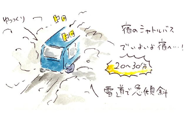 青荷温泉 シャトルバス イラスト