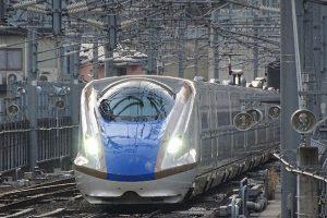 E7系「はくたか565号」金沢行、JR北陸新幹線・長野駅