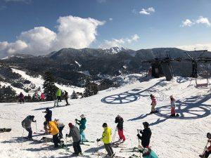 万座温泉スキー場ゲレンデ