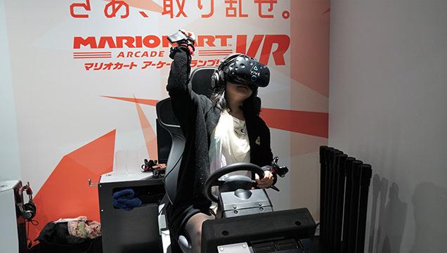 VR ZONE SHINJUKU マリオカートアーケードグランプリVRを体験するライター