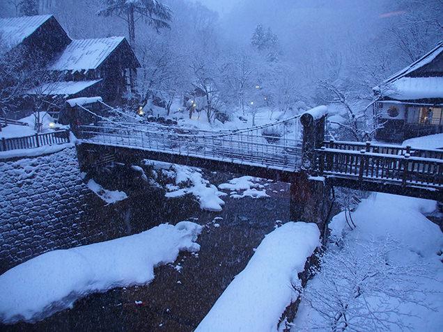 宝川温泉 汪泉閣 地蔵の間 窓からの風景