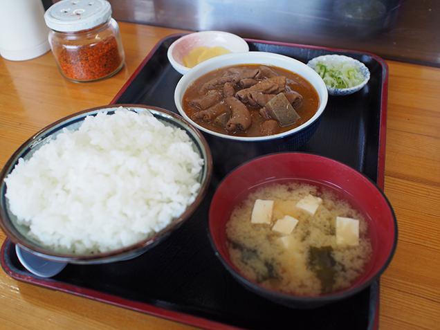 永井食堂 もつ煮定食