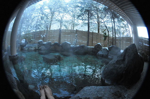 大湯温泉 ホテル鹿角 露天風呂