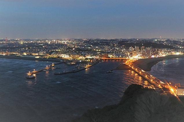 江の島シーキャンドル 夜景