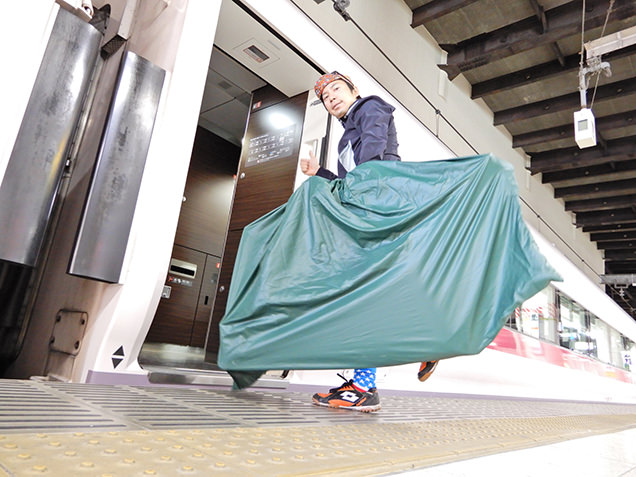 上野駅 電車輪行