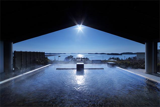 「松島一の坊」松島湾を一望できる最上階の露天の湯「八百八島」